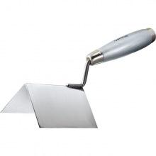 Мастерок з  нержавіючої сталі 80 х 60 х 60 мм, для зовнішніх кутів, дерев'яна ручка,  MTX (MIRI863129)