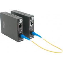 Медиаконвертер D-Link DMC-920R 1x100BaseTX- 100BaseFX, WDM (ТХ 1310нм, RX 1550), SM 20km, SC (DMC-920R)