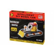 Конструктор металлический Inteligent DIY Model Car Бульдозер 106 ел.  (58035Ut)