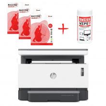 МФУ A4 HP Neverstop Laser 1200a + Бумага Maestro A4, 500л x 3шт + Салфетки SWISS WIPE (HP1200a-Promo)