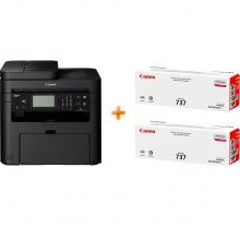 БФП А4 ч/б Canon i-SENSYS MF237w c Wi-Fi (бандл з 2 картриджами) (1418C162)