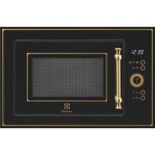 Микроволновая печь Electrolux встраиваемая 25 л / электронное управление/ гриль/ черная (EMT25203OK)