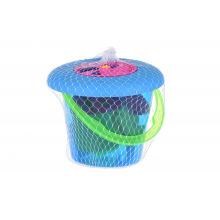 Набор для игри с песком Same Toy с летающей тарелкой (синє ведерко) 8 шт  (HY-1205WUt-1)