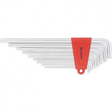 Набір екстра-довгих ключів імбусових TORX, 9 шт: T10-T50, CrV, сатин, МТХ (MIRI123079)