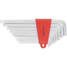 Набір ключів імбусових TORX, 9 шт: T10-T50, CrV, подовжені, сатин, МТХ (MIRI123069)