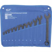 Набір ключів комбінованих, 6 - 22 мм, 12 шт, CrV, фосфатованні, ГОСТ 16983,  СИБРТЕХ (MIRI15477)
