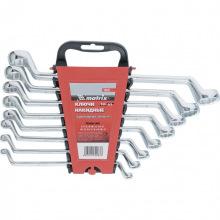 Набір ключів накидних, 6-22 мм, CR-V, 8 шт, полірований хром,  MTX (MIRI153329)