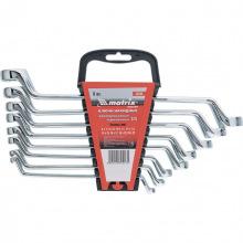 Набір ключів накидних Elliptical 8 шт: 6-22 мм, CrV, дзеркальний хром,  MTX MASTER (MIRI153389)