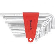 Набір коротких ключів імбусових TORX, 9 шт: T10-T50, CrV, сатин (MIRI123059)