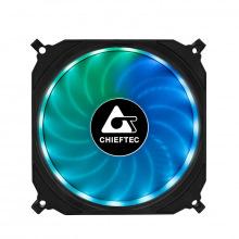 Набір корпусних вентиляторів CHIEFTEC TORNADO 3in1 ARGB fan,3x120мм,1200об/мин,6pin,16dBa+Fan hub+ДУ (CF-3012-RGB)