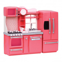 Набор Мебели Our Generation Кухня для гурманов, 94 аксессуара розовая (BD37365Z)