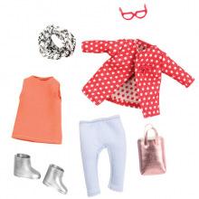 Набор одежды для кукол LORI Красное пальто с узором (LO30014Z)