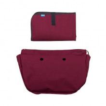 Набор (Подкладка и коврик для пеленания) MyMia бордовый (NV8802BORD)