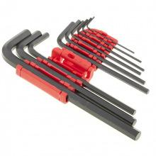 Набір подовжених ключів імбусових HEX 1.5-10 мм, CrV, 9 шт, оксидовані,  MTX (MIRI112319)