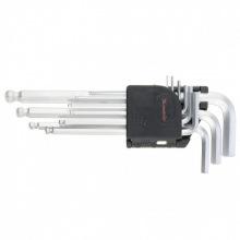 Набір подовжених з кулею ключів імбусових HEX 1.5–10 мм, CrV, 9 шт,  MTX (MIRI112339)