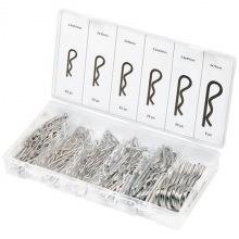 Набір шплінтів, S-головки, з фіксацією, 150 предметів,  СИБРТЕХ (MIRI47605)