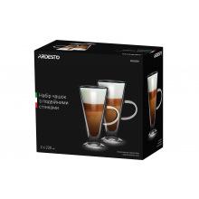 Набор чашек Ardesto с ручками с двойными стенками для латте, 230 мл, 2 ед., боросиликатное стекло (AR2623GH)