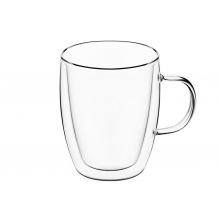 Набор чашек Ardesto с ручками с двойными стенками для латте, 270 мл, 2 ед., боросиликатное стекло (AR2627G)