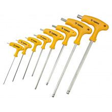 Набор Topex ключей шестигранных HEX с Т-подобной ручкою, 9 шт. (35D967)