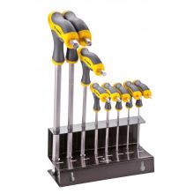 Набiр ключiв Topex шестигранних тип Т 2-10 мм, 9 шт. (35D963)