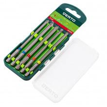 Набор насадок Verto, 5 шт., 100 mm - 1 x PH, 2 x PZ, 1 x SL, 1 x TX (66H604)