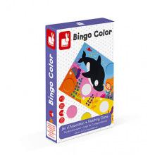 Настольная игра Janod Бинго. Изучаем цвета  (J02693)