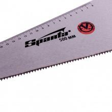 Ножівка по дереву 500 мм, 7-8 TPI, гартований зуб-2D, лінійка, двокомпонентна рукоятка,  SPARTА (MIRI235035)
