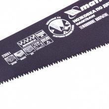 Ножівка по дереву 500 мм, 7-8 TPI, гартований зуб - 3D, тефлонове покриття, двокомпонентна рукоятка, МТХ (MIRI235519)