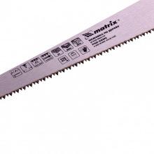 Ножівка по дереву для дрібних пильних робіт 320 мм, гартований зуб, суцільнолита однокомпонентна рукоятка, МТХ (MIRI231069)
