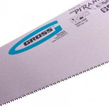 """Ножівка по дереву """"PIRANHA"""" 450 мм, 11-12 TPI, гартований зуб - 3D, двокомпонентна рукоятка,  GROSS (MIRI24103)"""