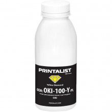 Тонер PRINTALIST для OKI универсальный 100г Yellow (Желтый) (OKI-100-Y-PL)