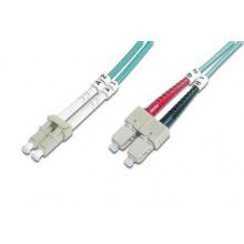 Оптический патч-корд DIGITUS LC/UPC-SC/UPC, 50/125, OM3, duplex, 2m (DK-2532-02/3)