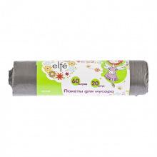 Пакети для сміття 60л, 20шт, сірі,  Elfe (MIRI92709)