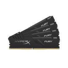 Оперативна пам'ять для ПК Kingston DDR4 2666 32GB KIT (8GBx4) HyperX Fury Black (HX426C16FB3K4/32)