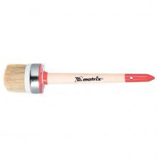 Пензель круглий Профі № 14 (50 мм), натуральна щетина, дерев'яна ручка, MTX (MIRI820519)