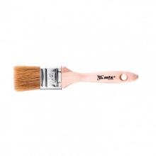 "Пензель плоский ""Євро""  1.5"", натуральна щетина, дерев'яна ручка,  MTX (MIRI830529)"