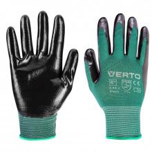 """Перчатки Verto садовые, нитриловое покрытие, размер 8"""" (97H151)"""