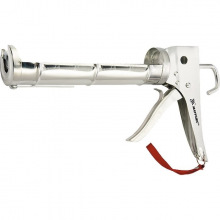 Пістолет напіввідкритий для герметика 310 мл, хромований, зубчастий шток 7 мм,  MTX (MIRI886409)