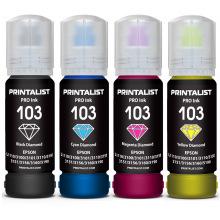 Комплект чорнила PRINTALIST 103 B/C/M/Y для Epson 4х70г (PL103SET)