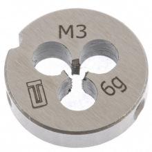 Плашка М3 х 0.5 мм,  СИБРТЕХ (MIRI77005)