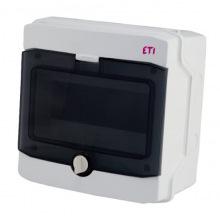 Щит пластиковый ETI ECH 8PT (наружный 1х8мод, дверь прозр, IP65) (1101061)