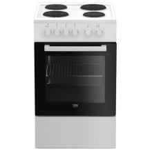 Плита електрична Beko FSS56000GW - 4 чавунні зони нагріву/50х60 см/60л/білий колір (FSS56000GW)