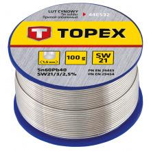 Припой Topex оловянный 60%Sn, проволока 1.0 мм,100 г (44E532)