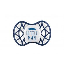 """Пустышка ортодонтическая Nuvita NV7084 Air55 Cool 6m+ """"LITTLE MAN"""" темно-синя (NV7084NB)"""