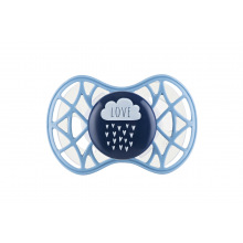 "Пустышка ортодонтическая Nuvita NV7084 Air55 Cool 6m+ ""LOVE"" голубо-синя (NV7084CB)"
