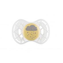 """Пустышка ортодонтическая Nuvita NV7084 Air55 Cool 6m+ """"LOVE"""" желто-серая (NV7084SC)"""