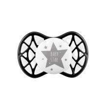 """Пустышка симетричная Nuvita NV7065 Air55 Cool 0m+ """"BABY STAR"""" чорна (NV7065IB)"""