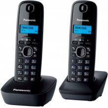 Радиотелефон DECT Panasonic KX-TG1612UAH Black Grey (KX-TG1612UAH)