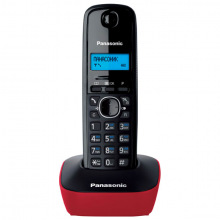 Радиотелефон DECT Panasonic KX-TG1611UAR Black Red (KX-TG1611UAR)