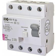Реле дифференциальное ETI (УЗО) EFI-4 AC 16/0.3 тип AC (10kA) (2064141)